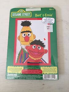 Janlynn-Sesame-Street-Bert-amp-Ernie-Counted-Cross-Stitch-Kit-New-68-11