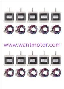 4000g.cm,cable Stepper Motor 3d printer 【EU SHIP】3PCS 42BYGHW609X1,Nema17,1.7A