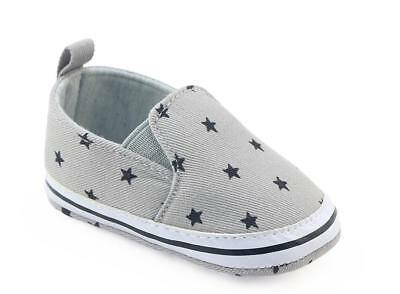 Newborn Baby Boy Soft Pram Shoes Toddler Pre Walker Faux Leather Trainers 0-18 M