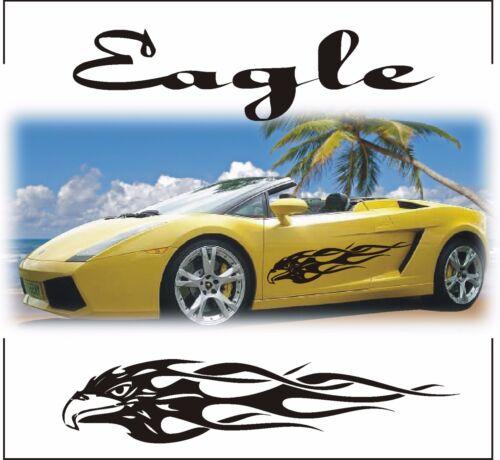 TRIBAL EAGLE STRIPES GRAPHICS CAR VINYL STICKER DECAL BODY PANEL WINDOW