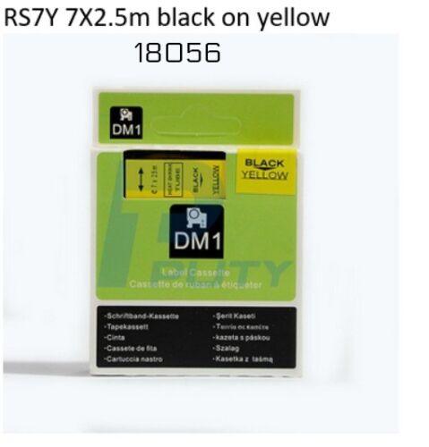 """2 DYMO Compatible RhinoPRO 12mm HeatShrink Cable Labl Tube ½"""" x 5' Blk//Ylw 18056"""