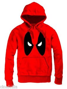 shirt Sweat Deadpool Capuche Eyes Angry Marvel Officiel Poches Hommes Et aCqC7