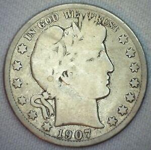 1911 50c Barber Silver Half Dollar G Good