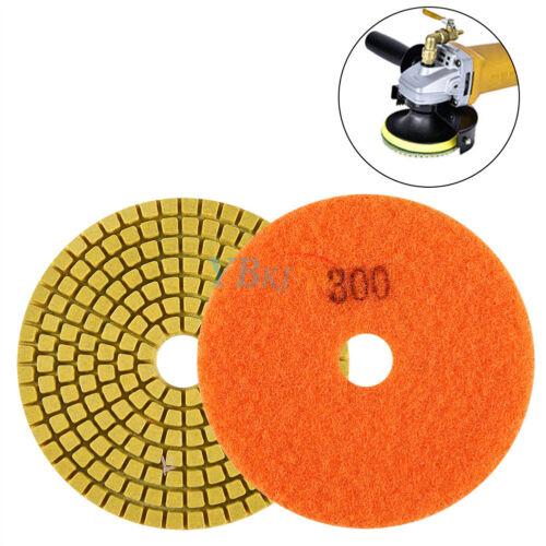 "4/"" Wet//Dry Diamond Polishing Pads Grinding Discs Granite Concrete Marble Stone"