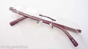Zielstrebig Randlos Brille Lila Marmoriert Frauen Gestell Brillenfassungen Leicht Grösse S Kleidung & Accessoires Sonnenbrillen