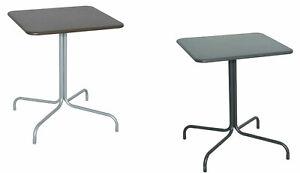 Tavolo Tavolino Quadrato Con Piede Centrale Per Bar Bistrot In Alluminio 20959 Ebay
