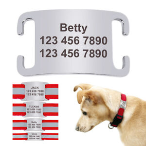 Custom Engraved Dog Tag Slide On Noiseless Dog ID IDENTIFICATION Cat Name Tags