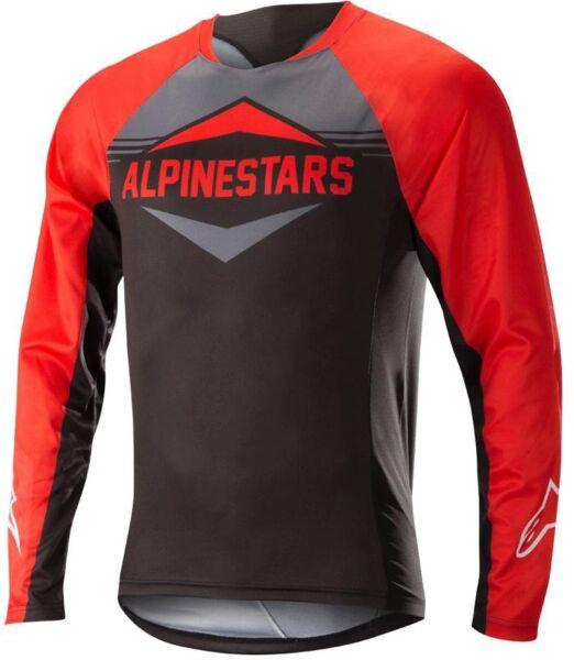 Alpinestars Mesa Manica Lunga Maglia Da Ciclismo Da Uomo-rosso/grigio