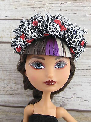 Ever After High Spring Unsprung Cerise Hood Replacement Headband Red Black White