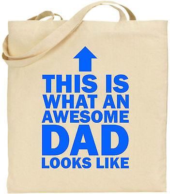 Toll Dad Arrow Groß Baumwolltasche Einkaufstasche Leinen Vater Tag Lustig