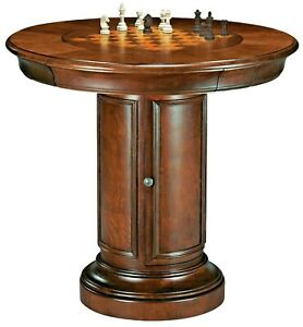 Howard-Miller-699-010-Ithaca-Pub-amp-Game-Table-Cherry-Finish-699010