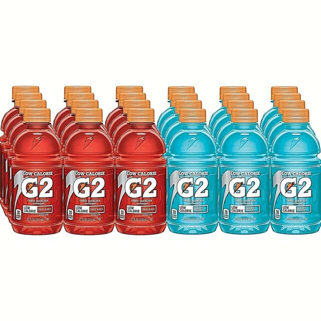 Gatorade G2 Glacier Freeze / G2 Fruit Punch 12 Oz Bottles, 24 Pack (2-Day  SH)