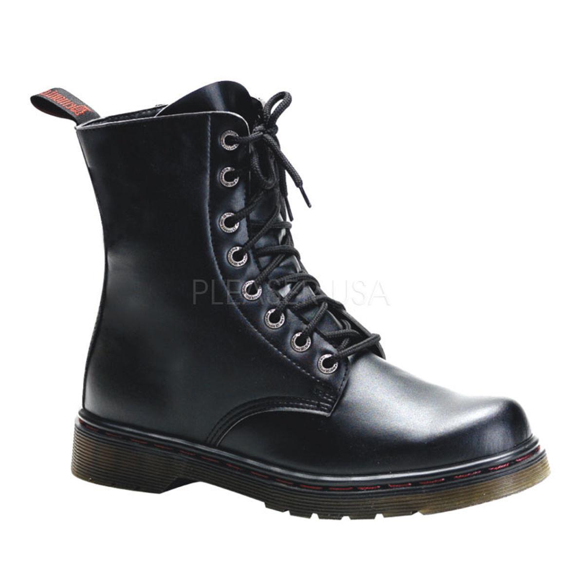 Demonia Disorder - 100 occhielli alla Militare caviglia Goth Punk Vegano Militare alla Combat Stivali Tacco 1