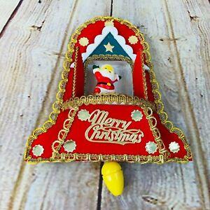 VIntage Christmas Musical Rotating Santa Ornament Pull ...