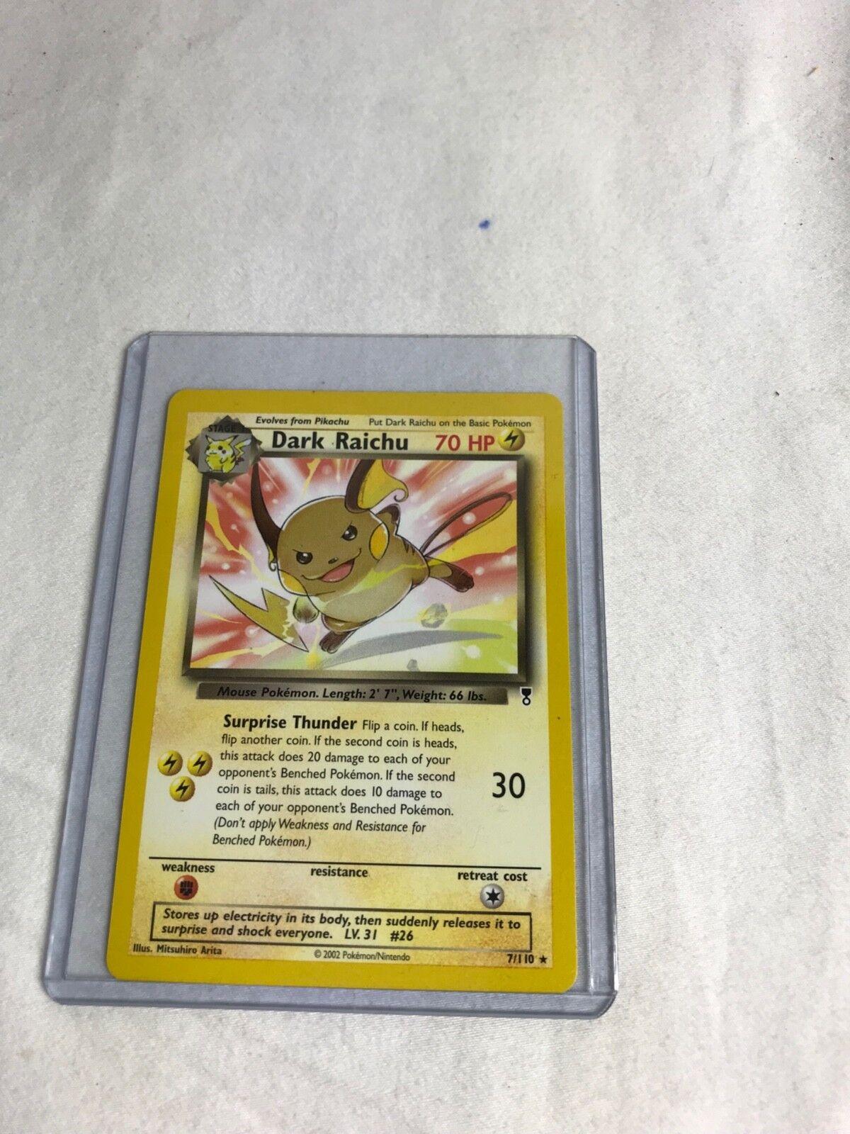 Pokémon Dark Raichu -7 110 Pokémon Card