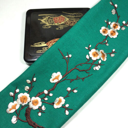 Lovely Embroidered Plum Blossom Flower Patch Iron//Sew on Applique Motif Cra YL!Y