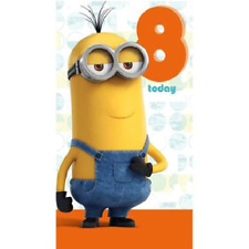 Despicable Me Age 8 Today 8th Birthday Card Minion