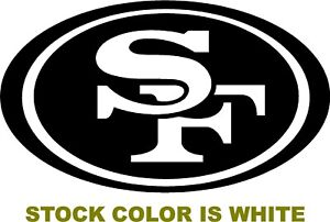 36ade605 Details about SF 49ers OVAL Logo Decal vinyl sticker san francisco football  car NFL Niners