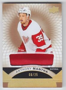 2017-18-UD-PREMIER-ANTHONY-MANTHA-08-25-GOLD-MATERIAL-27-GAME-USED-Red-Wings