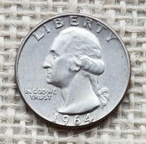1964-D Washington Quarter 25¢  *Silver*   ~AU Details~   *007