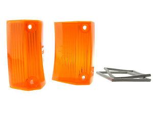 Vetro Lampeggiante Giallo Dischi di Luce Indicatore Opel Rekord C Commodore A