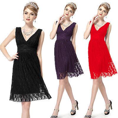 Hot Lady Short Bridesmaid V Neck Sleeveless Party Casual Summer Dresses 03409