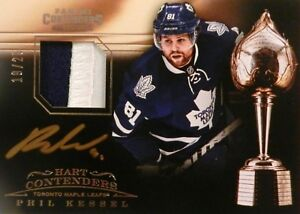 sports shoes 3fe42 0c7e4 Details about 13-14 panini contenders hart phil kessel maple leafs jersey  autograph auto 19/25