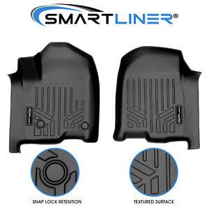 SMARTLINER Floor Mats 1st Row Liner 19-21 Silverado/Sierra 1500 - 2020 2500/3500