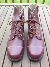 Goliath Burgundy Leather Steel Toe Red Brown Safety Boots Industrial Worker UK 8