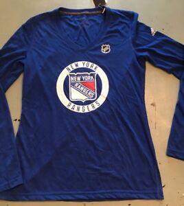 best service 6b9d3 4f3d3 New York Rangers, Adult Women's Shirt, Adidas, NHL fan Gear ...