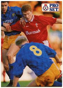 C364 Micky Hazard Swindon Town #214 Pro Set Football 1991-2 Trade Card