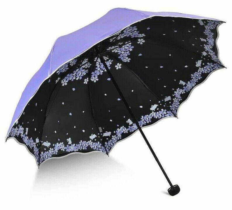 Modish Female Sun Parasol Pocket Umbrellas Travel Anti-UV Windproof Rain Flower