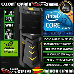 Ordenador-Gaming-Pc-Intel-i3-16GB-3TB-Asus-GT1030-2GB-Wifi-Office-de-Sobremesa