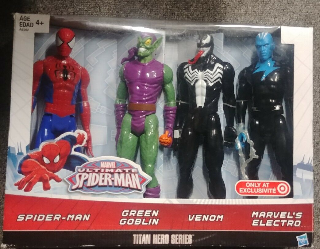 NEW Marvel Ultimate Spiderman Titan Hero Series Spiderman Vs. Villains Showdown
