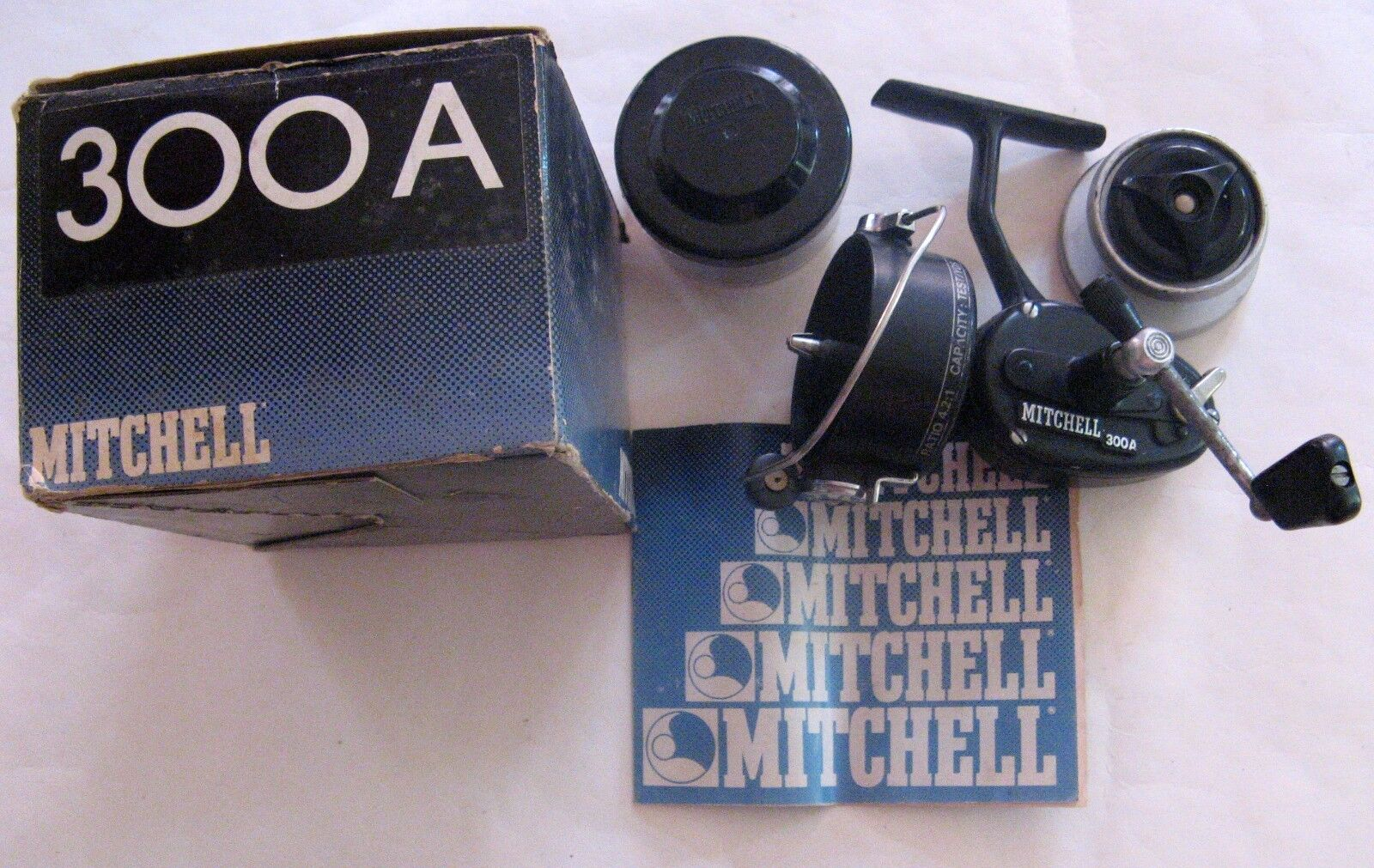 MITCHELL 300A MADE IN FRANCE FISHING REEL  FULL SET