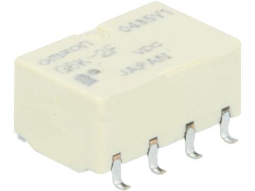 G6K-2F-Y 12VDC  Omron Relay Relais  SMD DPDT  12VDC  0,3A  1315R  NEW #BP 4 pcs