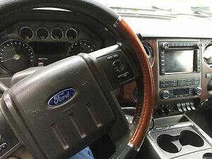 FORD SUPERDUTY F250 F350 F-250 F-350 MATCHING WOOD ACCENT STEERING WHEEL COVER !