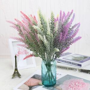 25-Head-Bunch-Artificial-Lavender-Flower-Bridal-Bouquet-Wedding-Party-Home-Decor