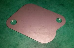 Stainless-Steel-Fuel-Pump-Blank-Plate-AC-DELCO-Triumph-Vauxhall-Austin-Jenson