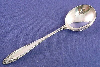 International Prelude Cream Soup Spoon Sterling Silver Flatware