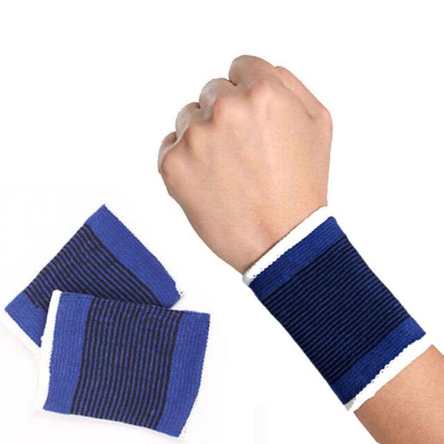 2Pcs Fitness Durable Elastic Sport Sweatband Wrist Sweat Band Gym Wristband Band