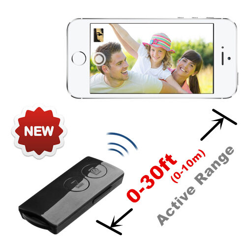 Bluetooth Selfie and Music Remote Control For Apple iPhone 12 11 X  iPad