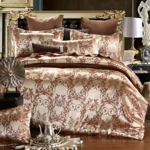 Luxury Jacquard Bedding Set King Size Duvet Cover Bed Linen Queen Comforter Bed