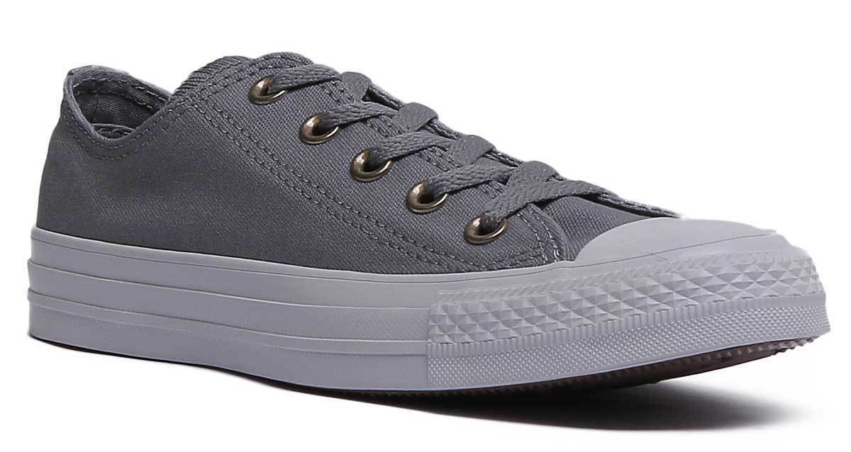 Converse Chuck Taylor All Star Mica damen Canvas Trainers In grau Größe UK 3 - 8