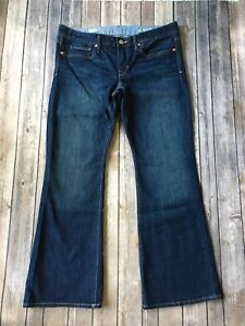 Gap-Jeans-Women-12-31-Curvy-Boot-Cut-Ankle-Blue-1969-Denim-30-034-Inseam