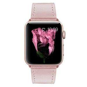 Marge Plus Compatible with Apple Watch Band 44mm 42mm 40mm 38mm, Genuine Leather