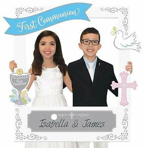 Amscan-15-First-Communion-Personalised-Photo-Frame-with-add-ons