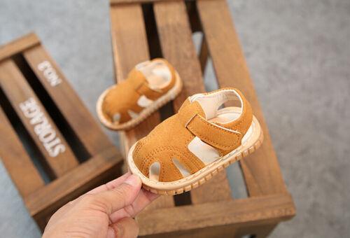 Newborn Sandals Soft Sole Crib Shoes Sneaker Prewalker Baby Boy Girls Summer UK