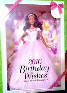 BARBIE-BIRTHDAY-WISHES-NRFB-PINK-LABEL-new-model-muse-doll-collection-Mattel