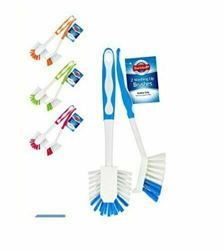 Pack of 4 Easy Grip Kitchen Washing Up Brush with Hanging Hook
